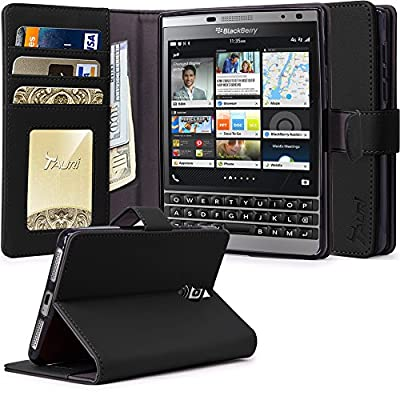 BlackBerry Passport Silver Edition Case, Tauri [Stand Feature] Wallet Leather Case with Stand, ID & Credit Card Pockets Flip Cover For BlackBerry Passport Silver Edition from Tauri