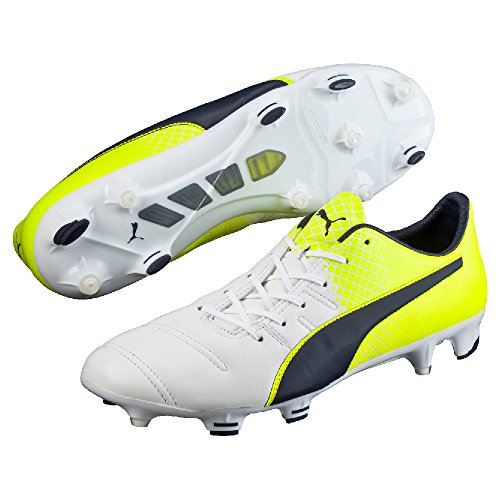 Puma evoPOWER 1.3 LTH FG - Puma White/Peacoat de Safety Yell