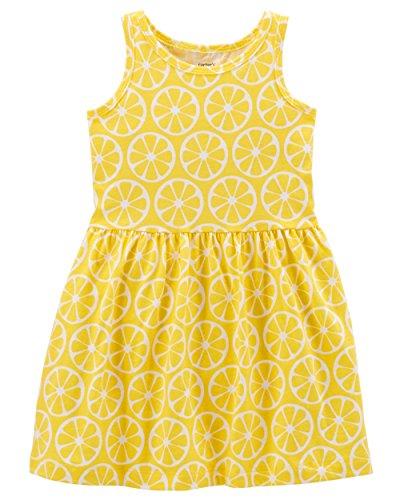 Carter's Girls' 2T-8, Lightweight Cotton Jersey Tank Dresses (Lemon Yellow, ()