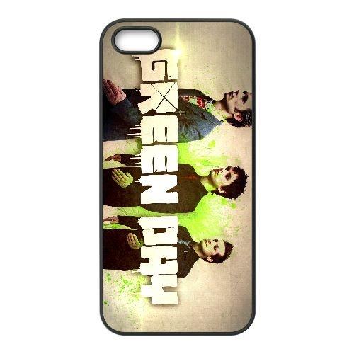 Green Day 002 coque iPhone 5 5S cellulaire cas coque de téléphone cas téléphone cellulaire noir couvercle EOKXLLNCD24124