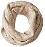 Sofia Cashmere Women's 100% Cashmere Cable Infinity Scarf, Heather Taupe, One Size