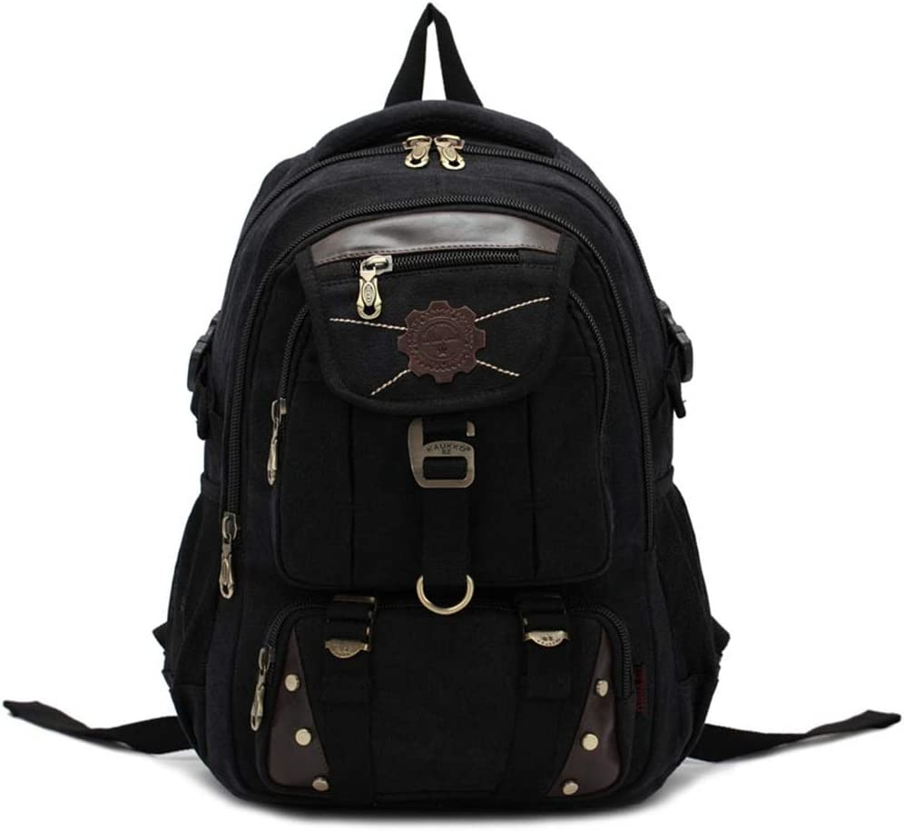 通気性 スタイリッシュなアウトドアスポーツハイキングバックパックレジャーニュートラルコンピューターバックパック大容量マルチポケット男性と女性に適した (色 : 黒) 黒