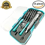 Precision Screwdriver set, 15 in 1 Professional Electronics Repair Tool Kit, Magnetic Driver Kit for iPhone/Smartphone/Game Console/Tablet/MacBook/Watch/Glasses/other Popular Electronic Device