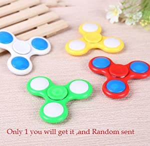 Spinner LED Tri Spinner Fidget Toy Plastic for Autism and ADHD Rotation Anti Stress Wheel Toys Stres Spiner