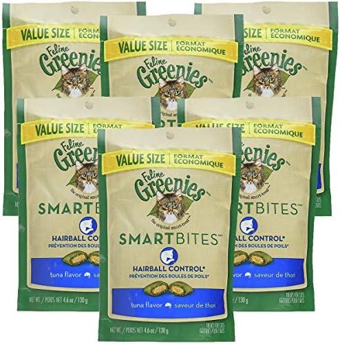 Greenies Smartbites Treats for Cats Tuna, 4.6 oz 6 Pack