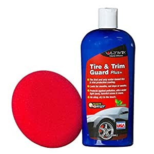ultima tire and trim guard plus long lasting protectant and sealant with applicator. Black Bedroom Furniture Sets. Home Design Ideas