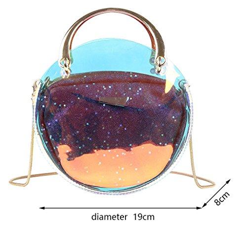Roscloud Shoulder Small color Bag Transparent Bag Bag Bag Black Silver Messenger Messenger rr4Waq