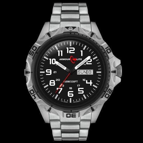 Steel Tritium Watch - Armourlite Professional Series Steel Tritium Watch