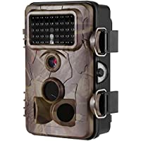 [2017 New] Hunting Camera Ancheer Game& Trail Camera 2.4 LCD Wildlife 42pcs No Glow IR LEDs and 12MP 1080P HD Infrared Night Vision IP66 Waterproof,120°Angle,0.4s Trigger Time with Time Lapse