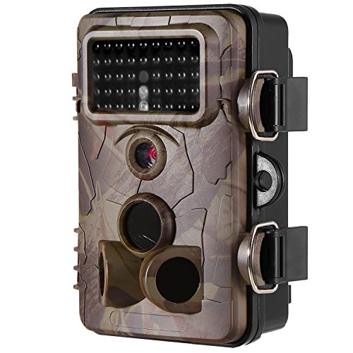 [2017 New] Hunting Camera Ancheer Game& Trail Camera 2.4' LCD Wildlife 42pcs No Glow IR LEDs and 12MP 1080P HD Infrared Night Vision IP66 Waterproof,120°Angle,0.4s Trigger Time with Time Lapse