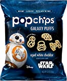 Popchips Potato Chips, Star Wars Shapes, Aged White Cheddar, 24 Count Single Serve Bags (0.8 oz), Gluten Free Star Wars Themed Potato Chips