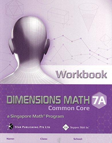 Workbook 7A (Dimensions Math CCSS)