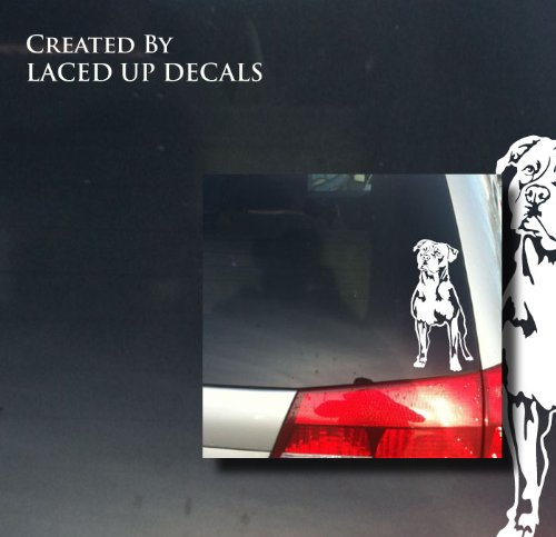 American Staffordshire Terrier Dog vinyl decal sm 2