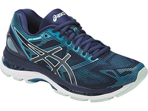 (ASICS Womens Gel-Nimbus 19 Running Shoe, Insignia Glacier Sea/Crystal Blue, 6 Medium US)