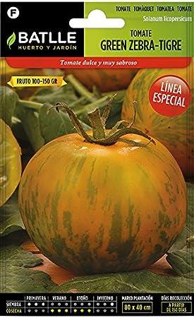 Semillas Hortícolas - Tomate Green Zebra - Tigre - Batlle: Amazon ...