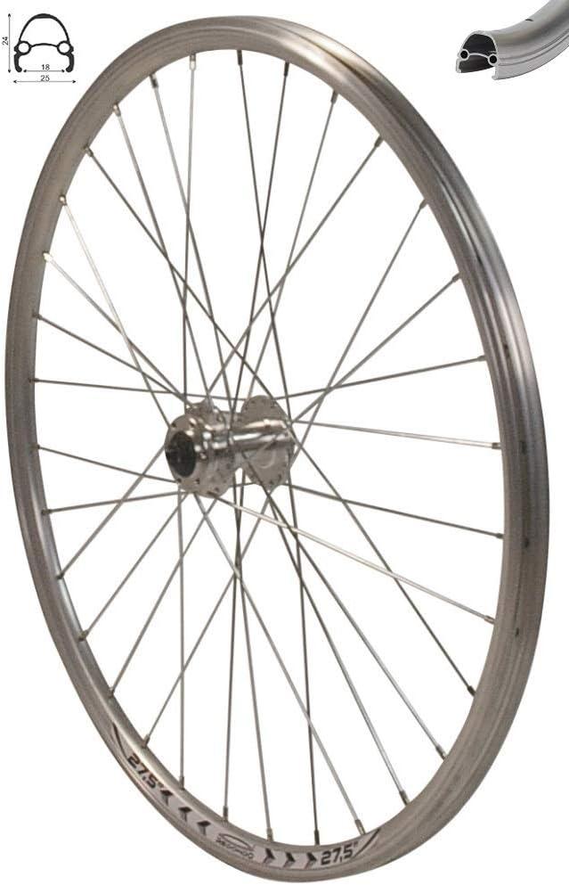 Redondo 27,5 Zoll Vorderrad Laufrad Fahrrad V Profil Felge Silber Disc