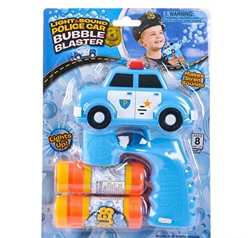 5'' LIGHT AND SOUND POLICE CRUISER BUBBLE BLASTER, Case of 24