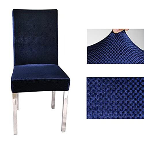 Superbe JAKY Global High Office Chair Covers Stretch Removable Washable Dining Room  Elastic Force Jacquard Chair Protector Cover Slipcover (2, Navy)