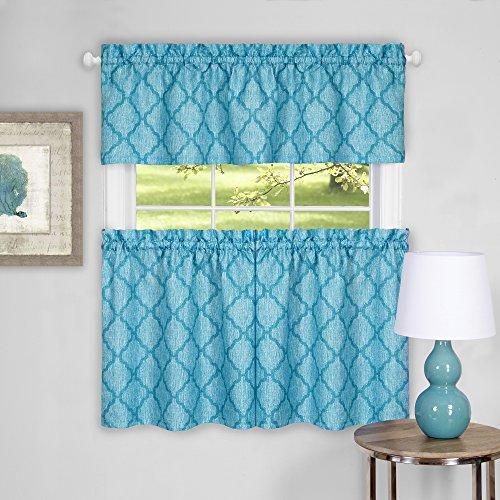Achim Home Furnishings Colby Window Curtain Tier Pair and Va