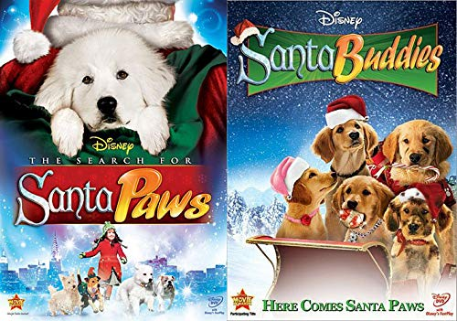 Disney Christmas Dogs - The Search for Santa Paws & Santa Buddies DVD Covers