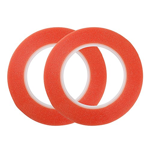 ded, 2 Rolls adhesive red line tape 4/5-Inch-by-27.4 Yards (Double Bead Line)