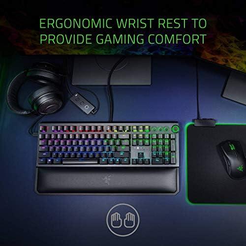 Razer BlackWidow Elite Mechanical Gaming Keyboard: Green Mechanical Switches – Tactile & Clicky – Chroma RGB Lighting – Magnetic Wrist Rest – Dedicated Media Keys & Dial – USB Passthrough 51eTxGxqXrL
