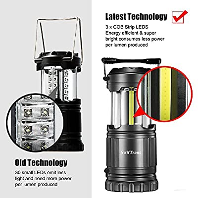 LED Camping Lantern-2 Pack Swiftrans Ultra Bright Lantern Flashlights Portable Collapsible Flashlights, Camping Equipment for Survival, Emergence, Outdoor Hiking, Hurricanes, Storms, Outages