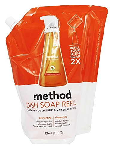 - Method Dish Soap Pump Refill, Clementine, 36 Ounce