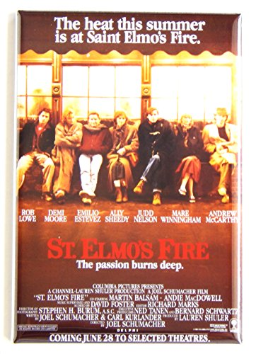 St. Elmo's Fire Movie Poster Fridge Magnet