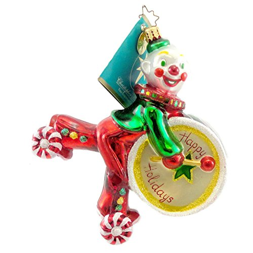 Christopher Radko BOPPO Blown Glass Ornament Clown Circus Drum