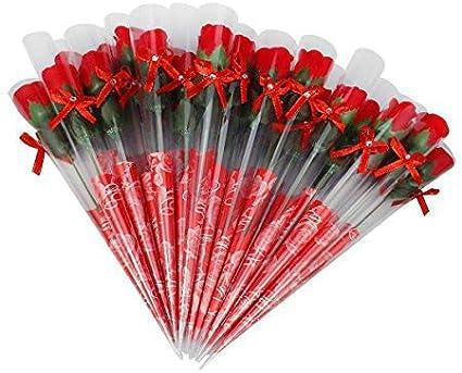 sans Conservateurs de plantes Savon /à lhuile essentielle cadeau pour anniversaire//anniversaire//mariage//Saint Valentin//pour la f/ête Wei Xi 32/Bunches Flora parfum/é Savon de bain Rose Fleur