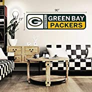 Green Bay Packers 90x23 Team Repositional Wall Decal Design 56