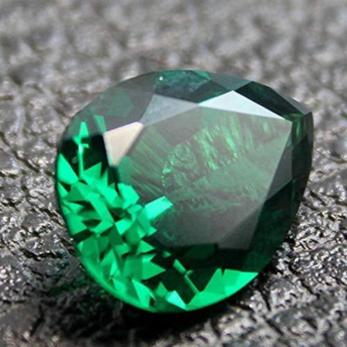 Emerald Pear Shaped Faceted Gemstone Teardrop Cut Emerald Gem Tsavorite Color Emerald Multiple Sizes to Choose C36E (Faceted Pear Cut)
