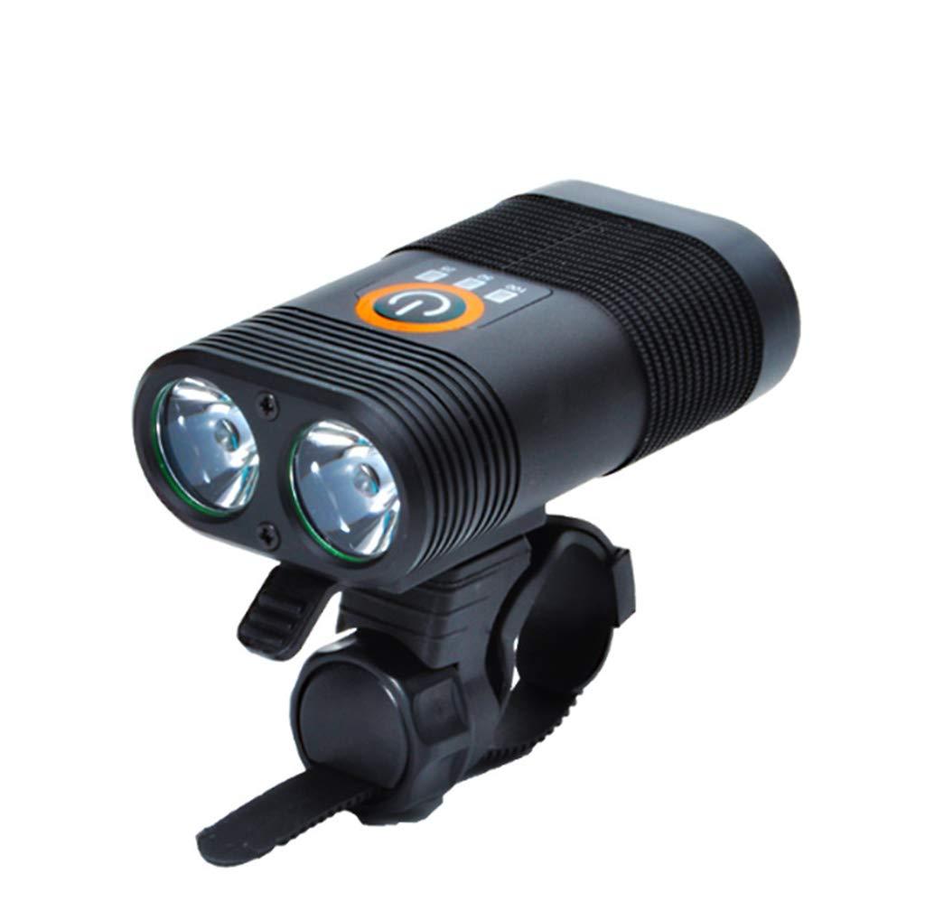 Fari Bicicletta USB Ricaricabile Alluminio Bicicletta Fari Impermeabile LED Bicicletta Luci 4 Modalità Notte Di Guida