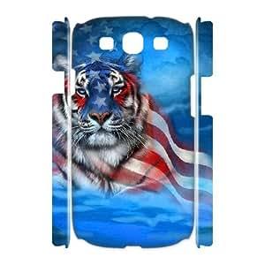 Samsung Galaxy S3 I9300 3D Custom Phone Back Case with Fractal Tiger Image