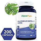 Pure Polypodium Leucotomos Extract 240mg 200 Capsules (Non-GMO & Gluten Free) Antioxidant Properties, Natural Skin Care Dietary Supplement - Made in USA - 100% Money Back Guarantee!