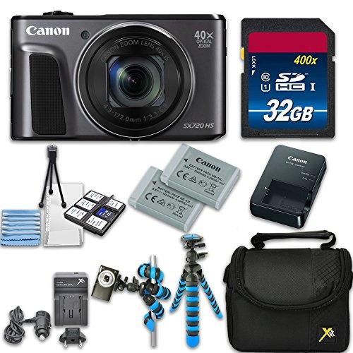 Canon PowerShot SX720 HS Digital Camera with 40x Optical Zoom + Accessory Bundle - International Model