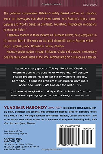 lectures on russian literature amazon co uk vladimir nabokov  lectures on russian literature amazon co uk vladimir nabokov 9780156027762 books