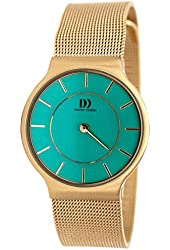 Danish Design Women's 26mm Gold-Tone Steel Bracelet & Case Quartz Turquoise Dial Analog Watch IV04Q732