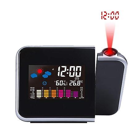 ZYLFN Reloj Despertador de proyección, Reloj Despertador ...