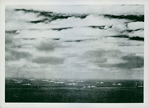 Vintage photo of U.S. Navy Battleships-Destroyers Cruisers