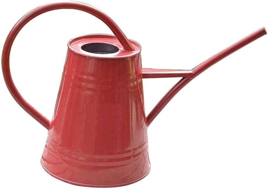 Asvert Watering Can Red Fashion Rustic Retro Textured Gardening Tools Long spout 2.2L/74oz(Red)