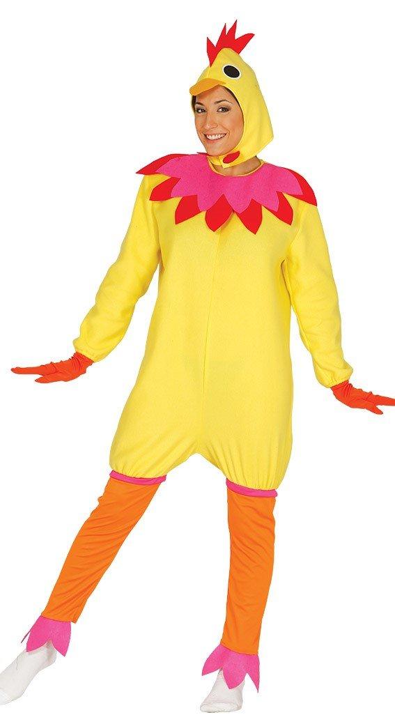 Hühner Kostüm für Kinder Huhn Kinderkostüm Tier gelbes Henne Ei Hühnchen gelb Gr