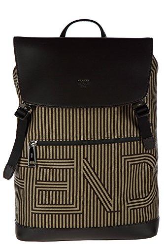 Fendi men's Nylon rucksack backpack travel optical brown