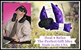 Happy-Wraps-Herbal-Neck-Wrap-wFree-Lavender-Eye-Pillow-Free-Sleep-Mask-Microwave-or-Freeze