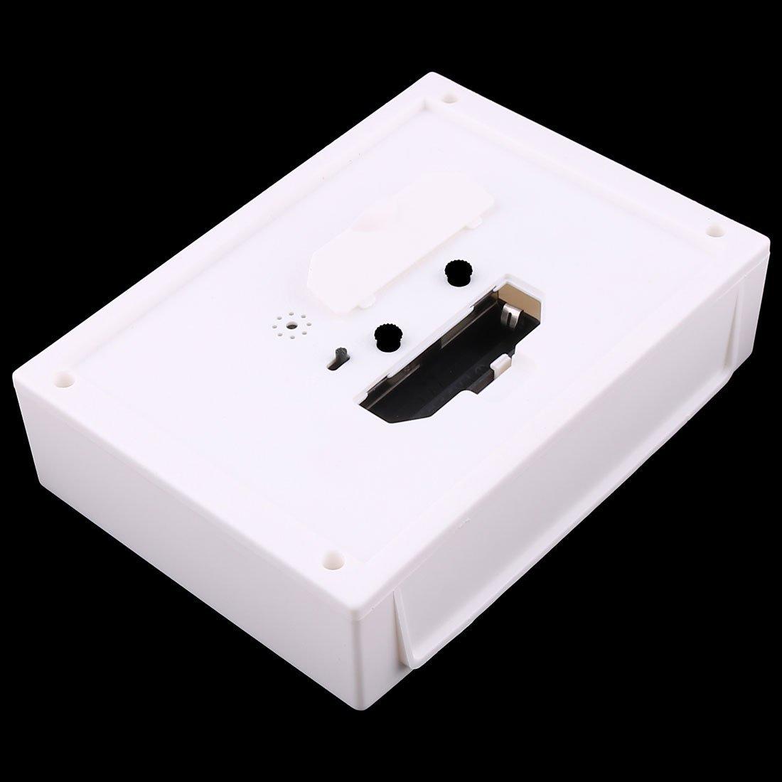 Amazon.com: eDealMax plástico del Ministerio del Interior Mesa Rectangular silencioso Número árabe despertador Blanca: Home & Kitchen