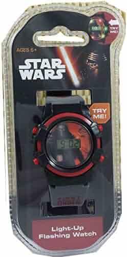 Star Wars Kids' Digital Watch with Flashing Lights (SWM3014)