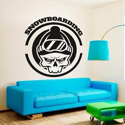 Wall Decal Vinyl Sticker Decals Art Decor Design Snowboarding Snowboarder Board Inscription Mountain Play Room Game Kids Children Sport Extrime Bedroom Nursery Sign (M1440): Home & Kitchen
