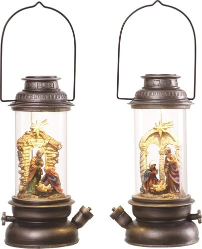TII Collections Resin Nativity Light Up Figure - Rustic by TII Collections (Image #1)