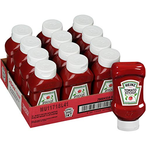 Heinz Bulk Tomato Ketchup (20 oz Bottles, Pack of 12)